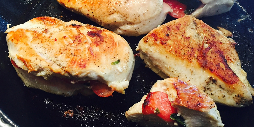 Cooking with Teresa Online Cookbook & Meal Planner Caprese Stuffed Chicken Breasts