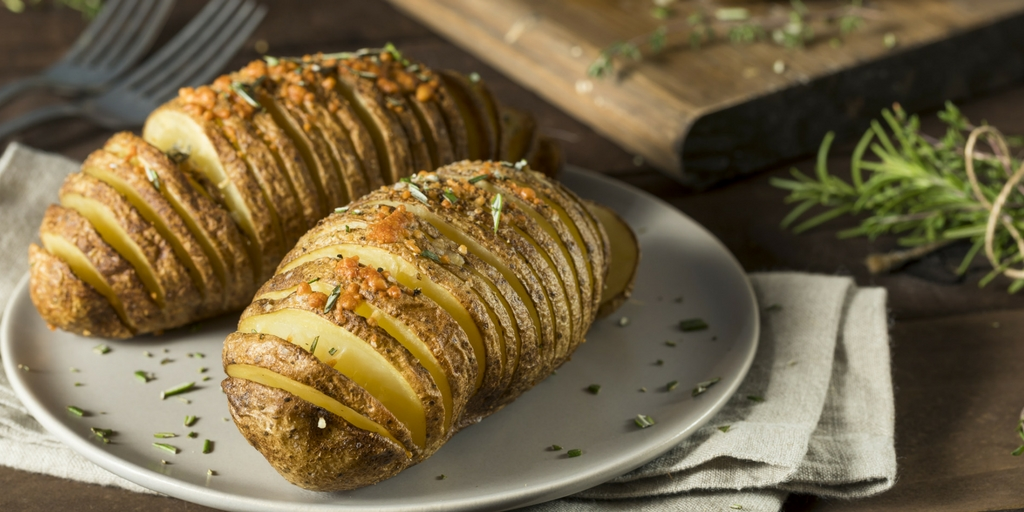 Cooking with Teresa Online Cookbook & Meal Planner Garlic Hasselback Potatoes