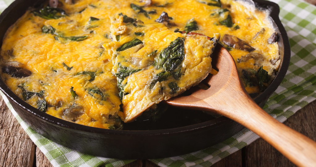 Cooking with Teresa Online Cookbook & Meal Planner Sausage, Mushroom & Kale Frittata