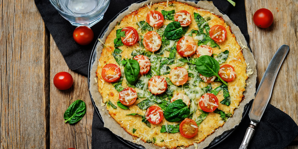 Cooking with Teresa Online Cookbook & Meal Planner Cauliflower pizza crust