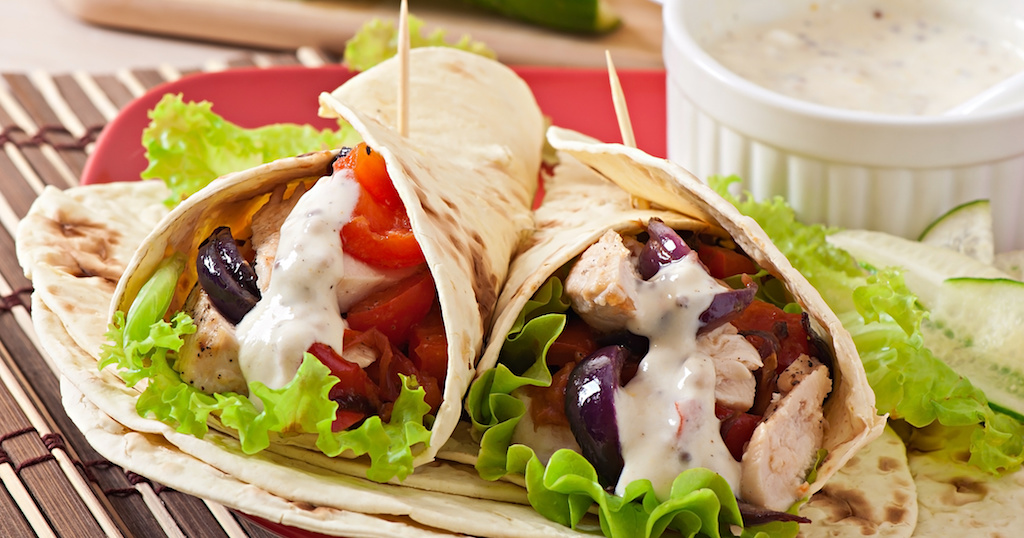 Chicken Greek Salad Wrap ~ Cooking with Teresa Online Cookbook & Meal Planner