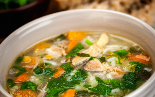 Cooking with Teresa Online Cookbook & Meal Planner Chicken Quinoa Soup Greens