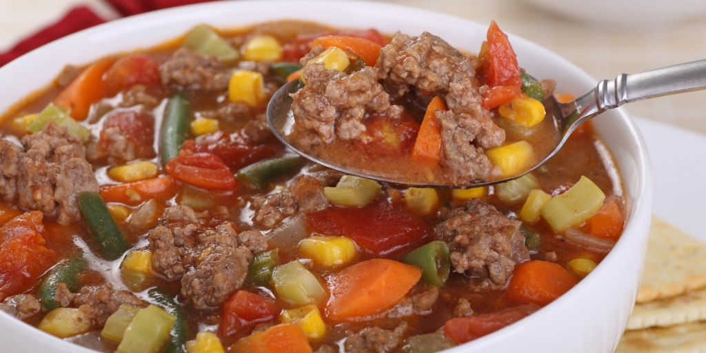Cooking with Teresa Online Cookbook & Meal Planner Hamburger Vegetable Soup