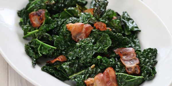 Cooking with Teresa Online Cookbook & Meal Planner Sautéed Kale & Bacon