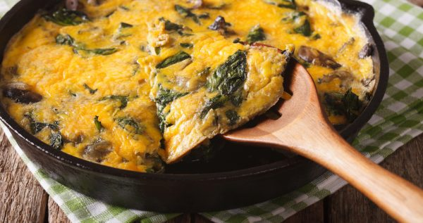 Cooking with Teresa Online Cookbook & Meal Planner Sausage, Mushroom & Kale Frittata