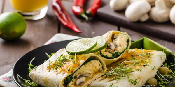 Cooking with Teresa Online Cookbook & Meal Planner Veggie Breakfast burrito